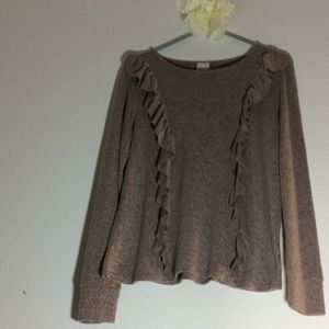 Paper Crane pull over sweater soft and thin fleece
